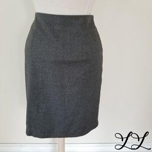 Cleo Skirt Pencil Kit Pleat Black White Mid Length